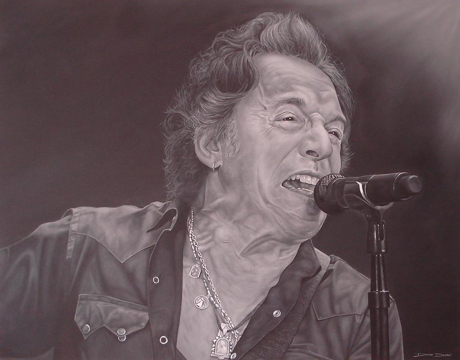 Bruce Springsteen Painting - Bruce Springsteen V by David Dunne