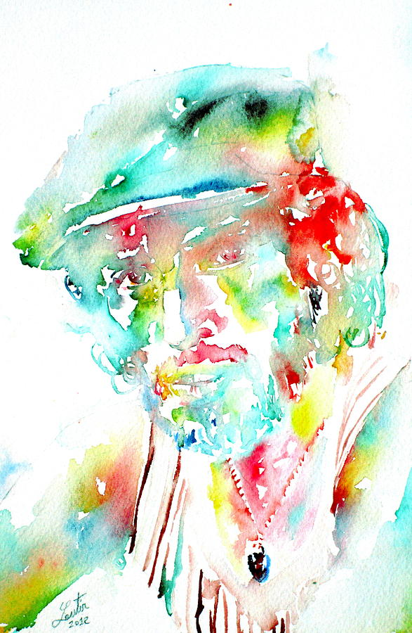 Bruce Painting - Bruce Springsteen Watercolor Portrait by Fabrizio Cassetta
