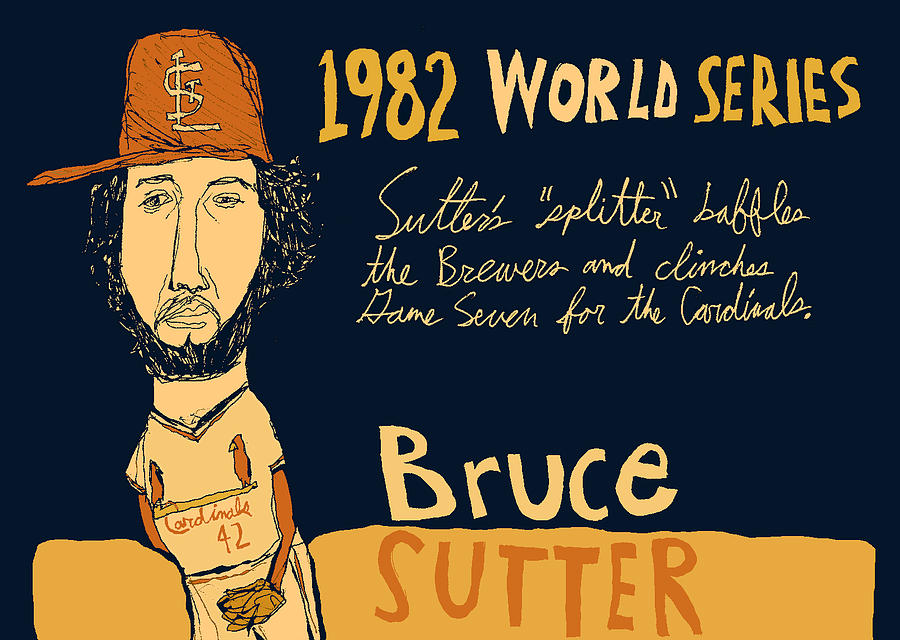 St Louis Cardinals Painting - Bruce Sutter St Louis Cardinals by JB Perkins