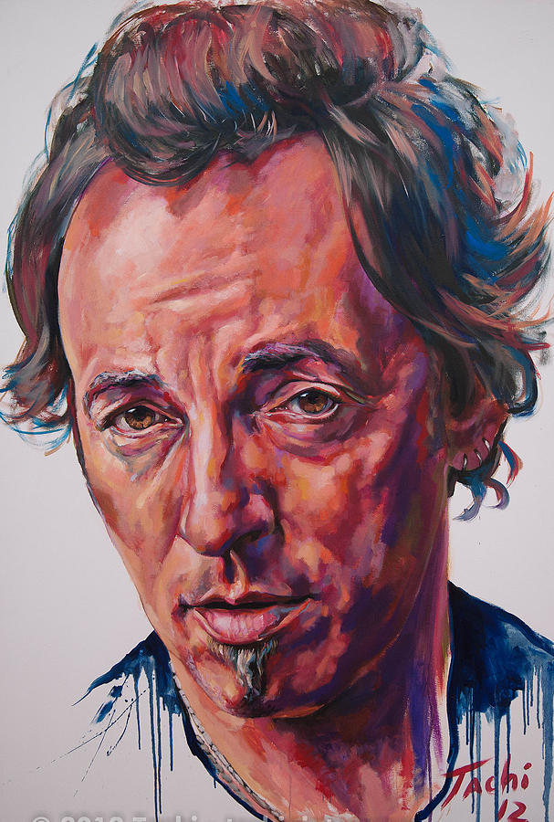 Bruce Painting - Bruce by Tachi Pintor