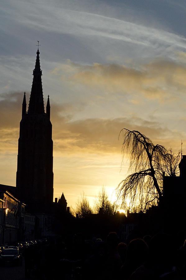 Brugges Photograph - Brugges Sunset by Stephen Richards