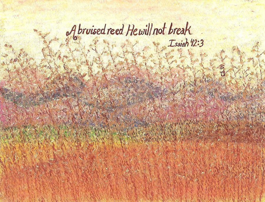 Grass Painting - Bruised Reed by Catherine Saldana