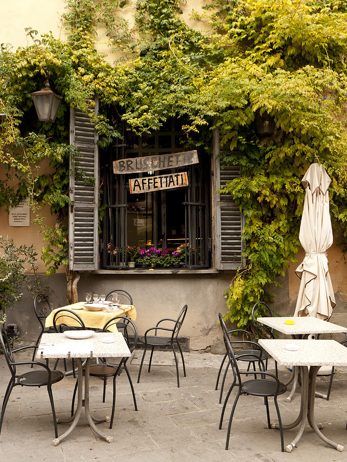 Emilia Romagna Photograph - Bruschetta Patio by Rae Tucker