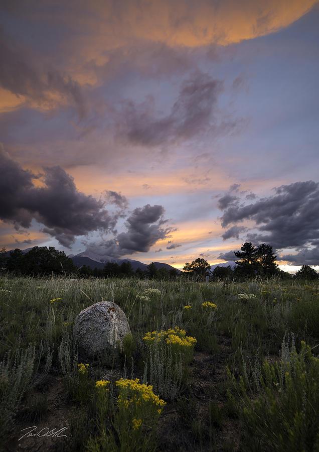 Salida Photograph - Brush Fire by Jon Blake