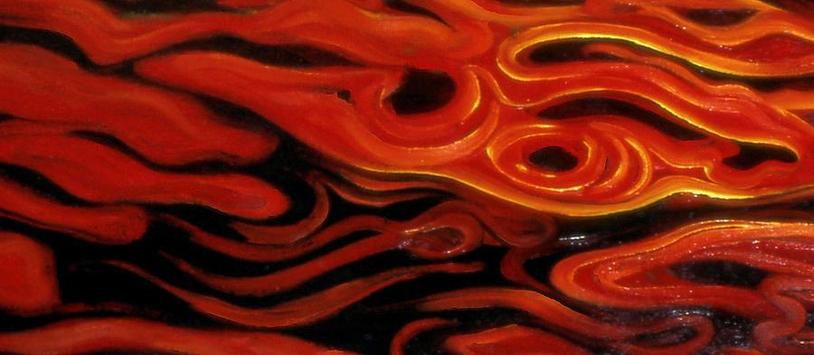 Genio Mixed Media - Brush Strokes In Red by Genio GgXpress