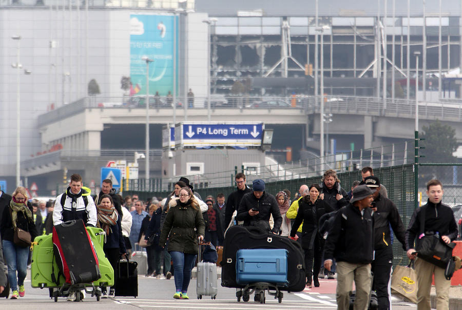 Brussels Airport And Metro Rocked By Explosions Photograph by Sylvain Lefevre