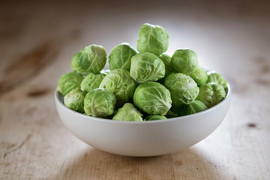 Nobody Photograph - Brussels Sprouts In Bowl by Aberration Films Ltd