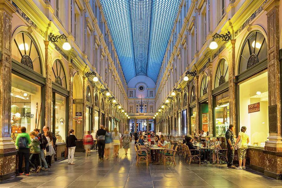 Brussels, St. Hubert Royal Galleries Photograph by Sylvain Sonnet