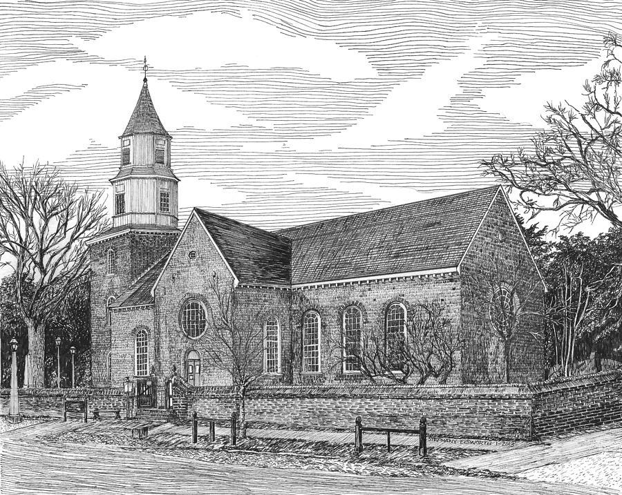 Bruton Parish Church Drawing By Stephany Elsworth