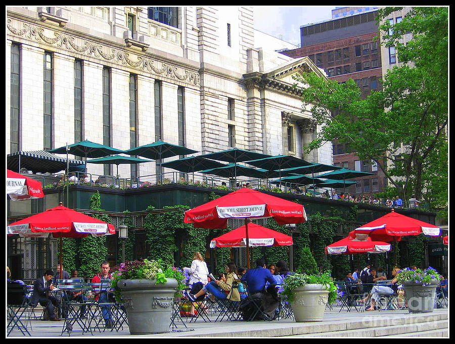 Bryant Park At Noon Photograph - Bryant Park At Noon by Dora Sofia Caputo Photographic Art and Design