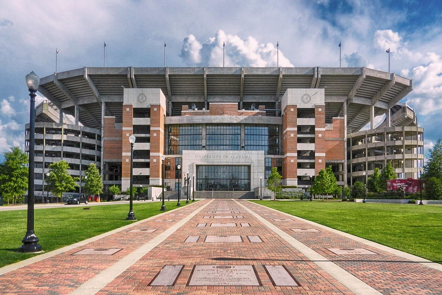 Crimson Tide Football Photograph - Bryant Denny Stadium by Ben Shields