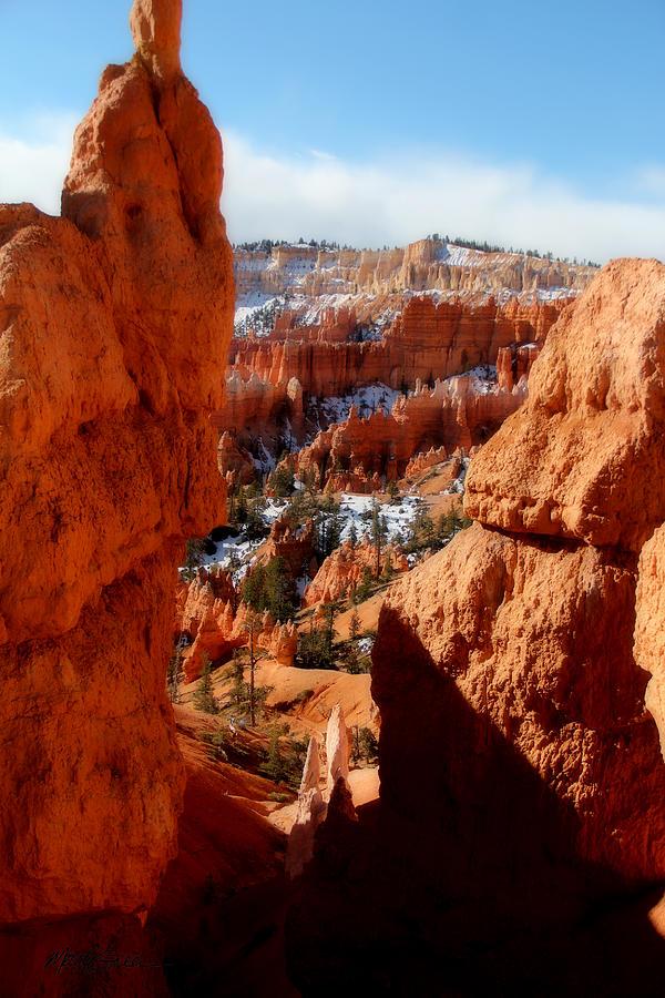 Canyon Bryce Photograph - Bryce Canyon Cliff Shot by Marti Green
