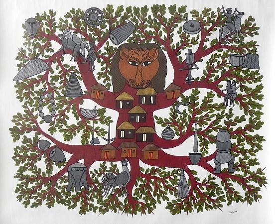 Bhajju Shyam Painting - Bs 77 by Bhajju Shyam