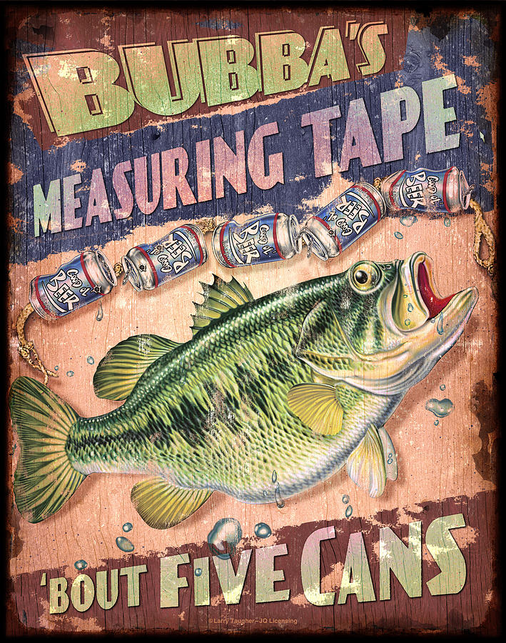 Jon Q Wright Painting - Bubba Measuring Tape by JQ Licensing