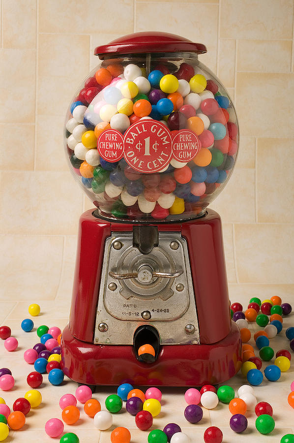 Candy Photograph - Bubble Gum Machine by Garry Gay