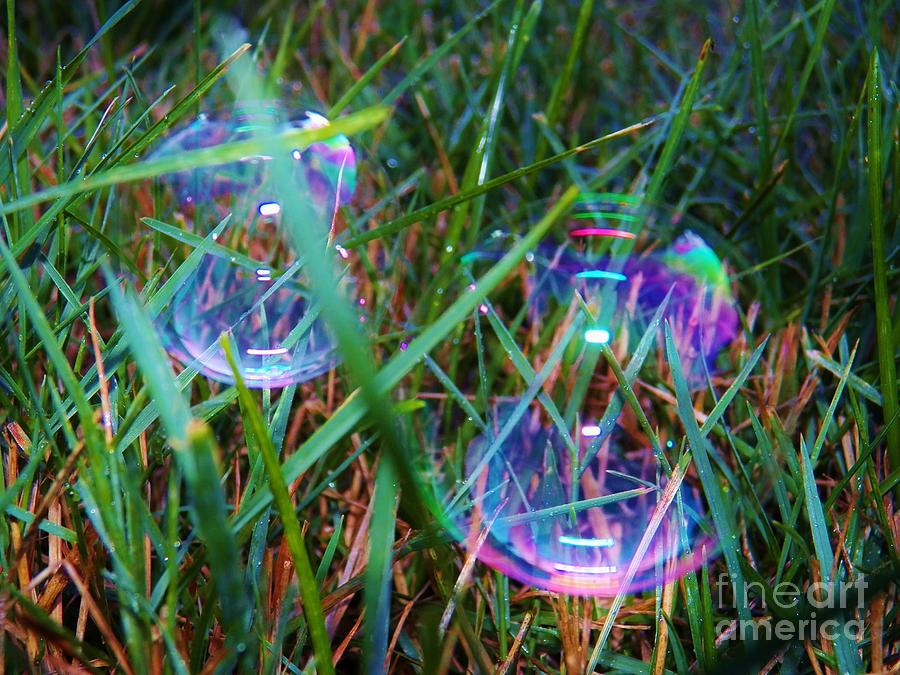 Bubbles Painting - Bubble Illusions 1 by Judy Via-Wolff