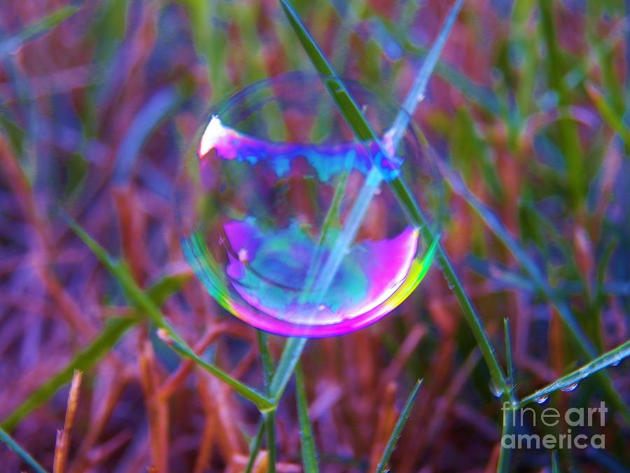 Bubbles Photograph - Bubble Illusions 3 by Judy Via-Wolff