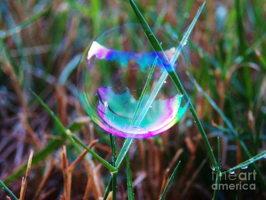 Bubbles Photograph - Bubble Illusions 4 by Judy Via-Wolff