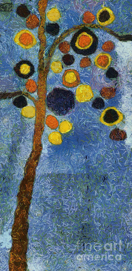 Tree Painting - Bubble Tree - 8586v03r by Variance Collections
