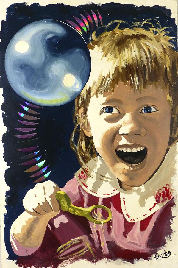 Bubbles Painting - Bubbles by Jack Hanzer Susco