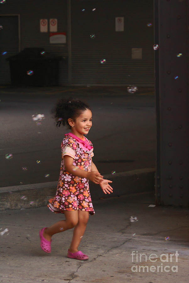 Girl Photograph - Bubbles Make The Happiest Moments by Aimelle