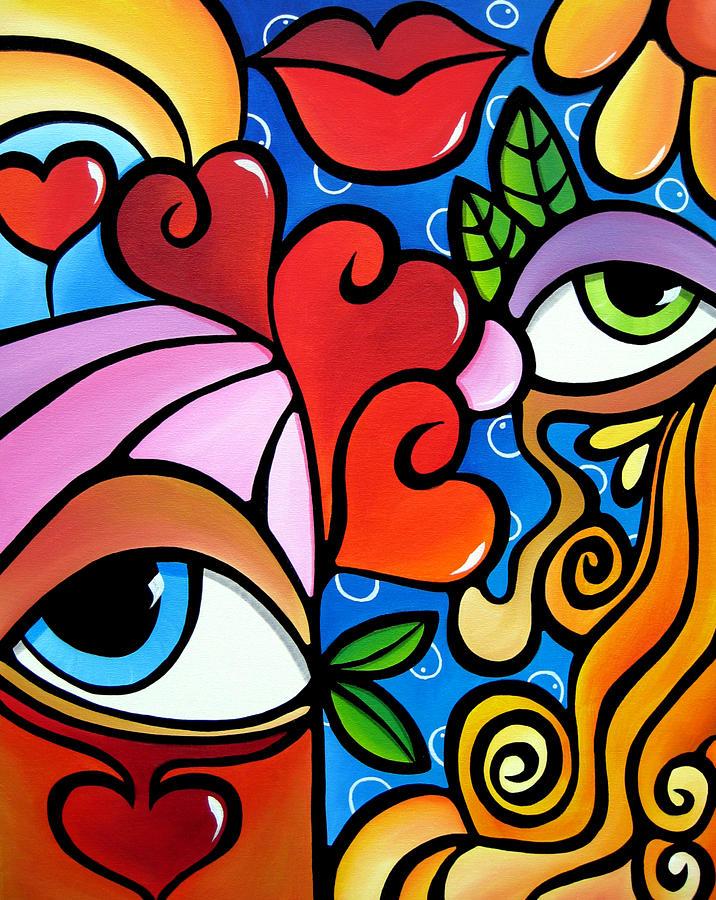 Bubbles painting by tom fedro fidostudio for Imagenes de cuadros abstractos famosos