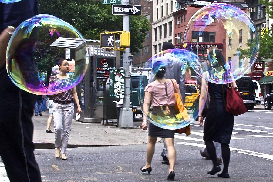Street Photograph - Bubblewalk by Heidi Horowitz