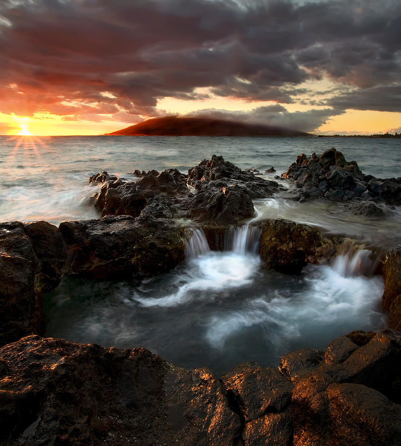 Sunset Photograph - Bubbling Cauldron by Mike  Dawson