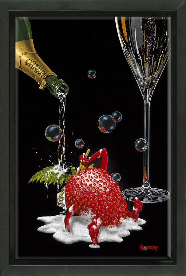 Champagne Painting - Bubbly Bath by Michael Godard