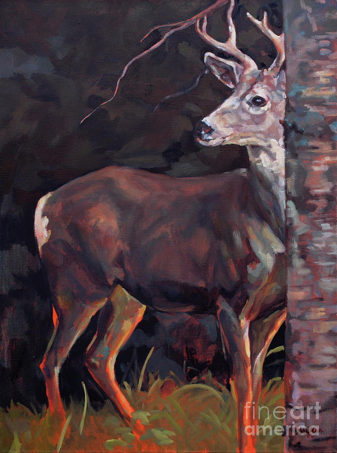 Buck Painting - Buck At Sullivan by Patricia A Griffin