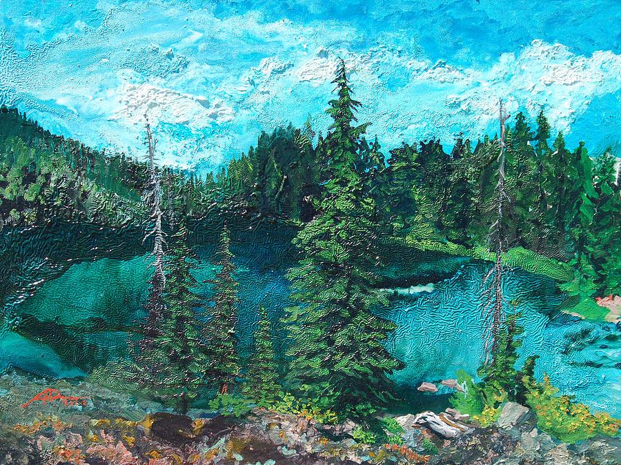 Buck Painting - Buck Lake by Joseph Demaree