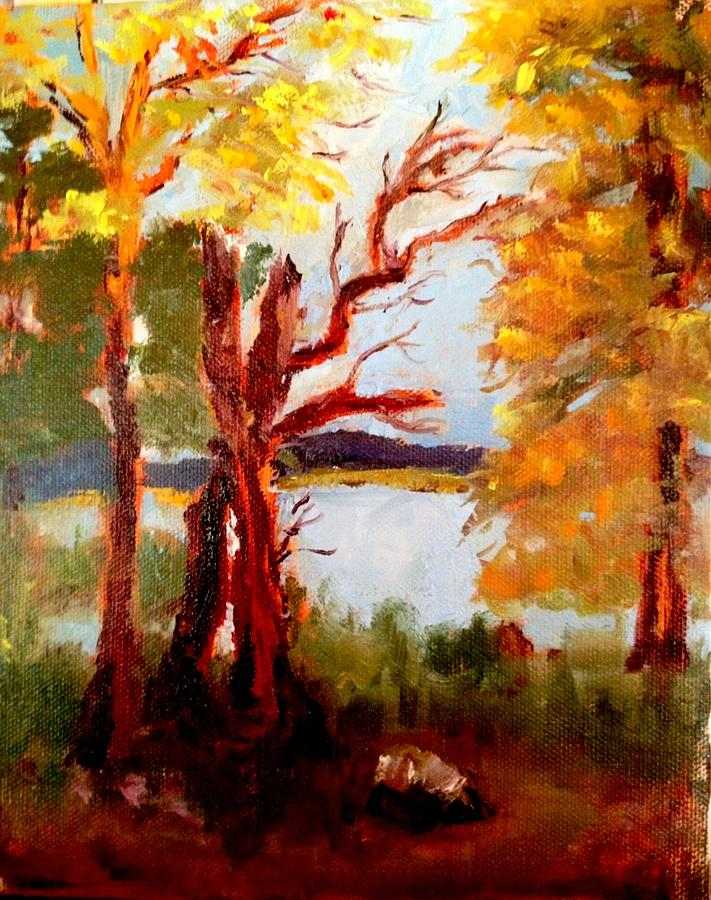 Trees Painting - Buckhead Trail by Jenell Richards