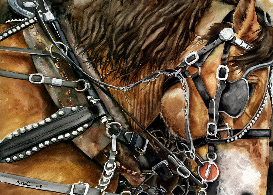 Horse Painting - Buckskin by Nadi Spencer