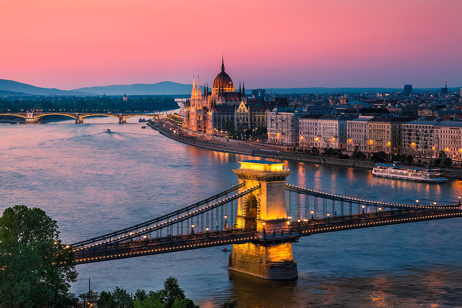 Afterglow Photograph - Budapest 02 by Tom Uhlenberg