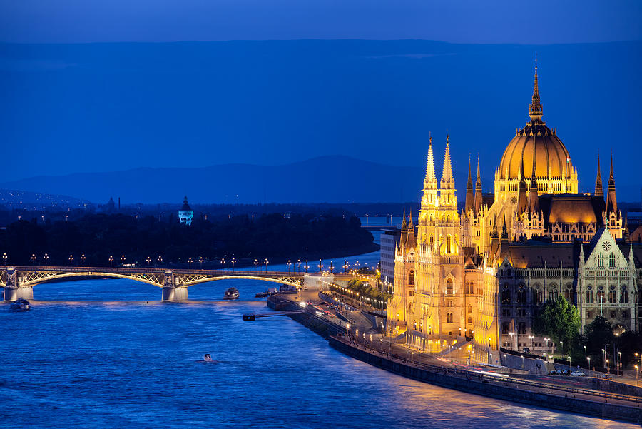 Budapest Photograph - Budapest By Night by Artur Bogacki
