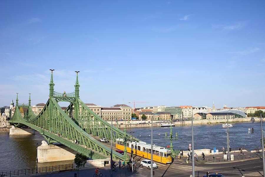 Budapest Photograph - Budapest Cityscape And Liberty Bridge by Artur Bogacki