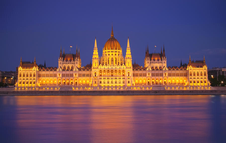 Budapest Parliament At Night Photograph by Ioan Panaite