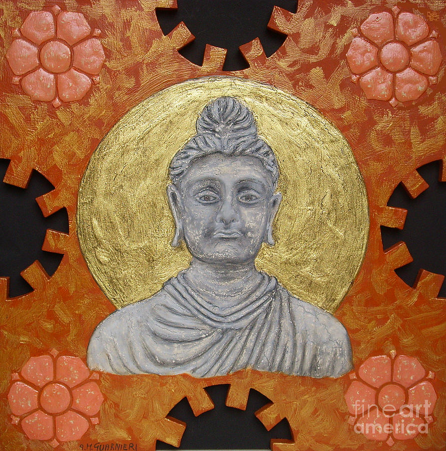 Buddha Painting - Buddha by Anna Maria Guarnieri