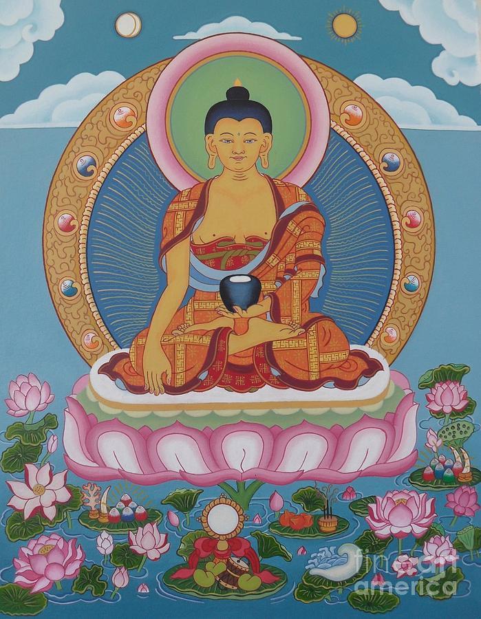 Buddha Painting - Buddha Arising by Andrea Nerozzi
