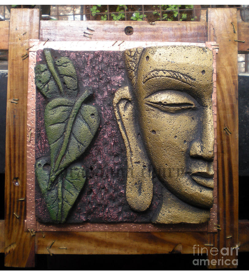 Buddha Panel Relief - Buddha Art Work by Prasanna Chury