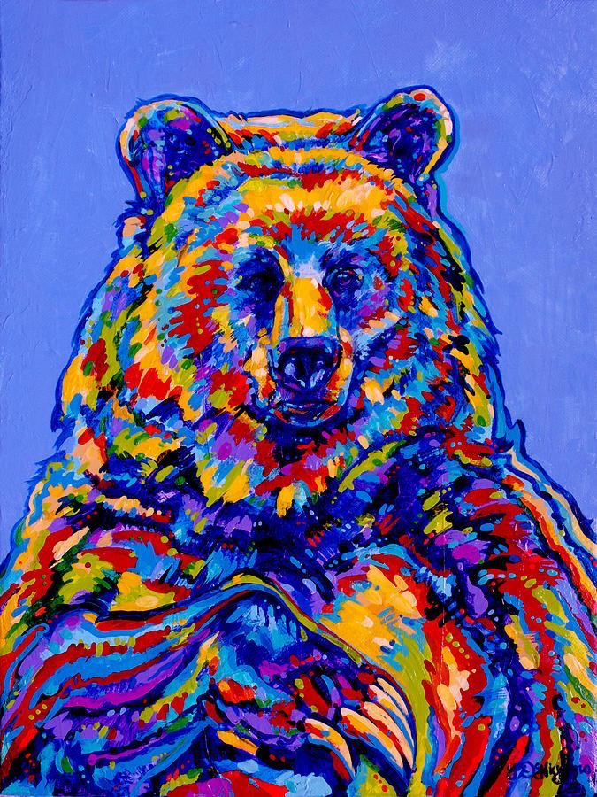 Buddha Bear Painting By Derrick Higgins