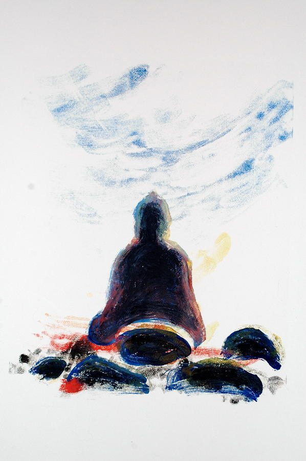 Contemplation Painting - Buddha Fifty-one by Valerie Lynch