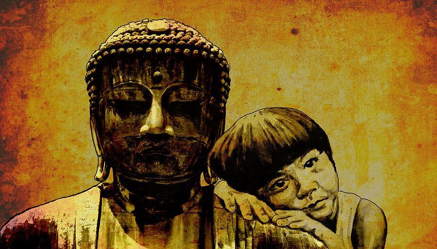 Buddha Painting - Buddha Girl by Richard Tito