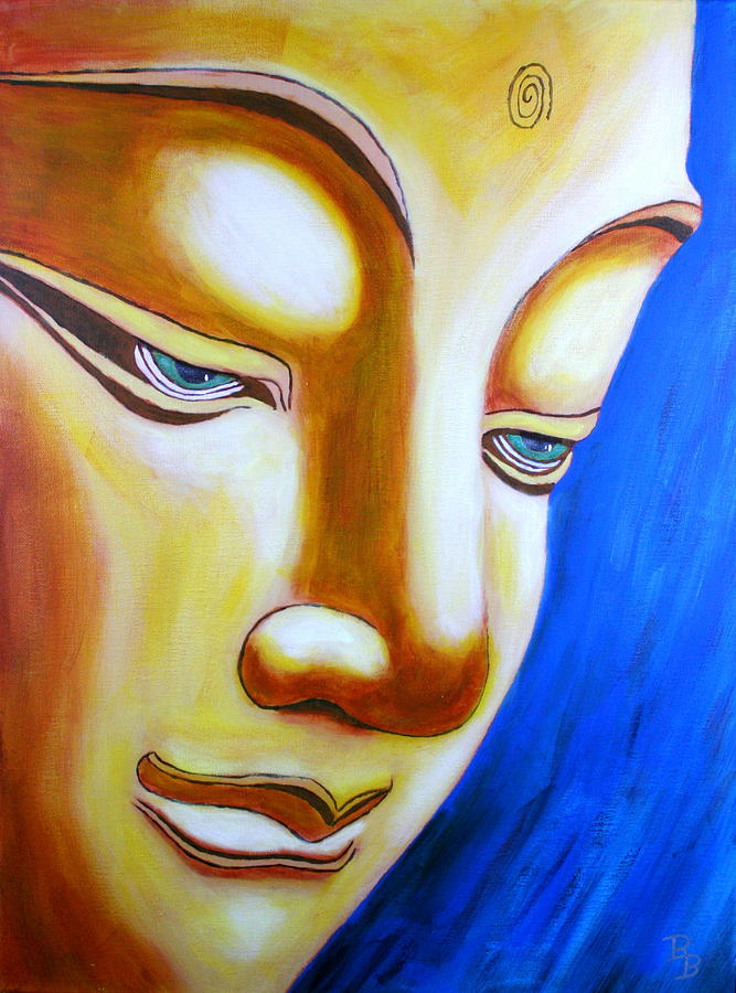 Buddha Head Gazing Art by Bob Baker