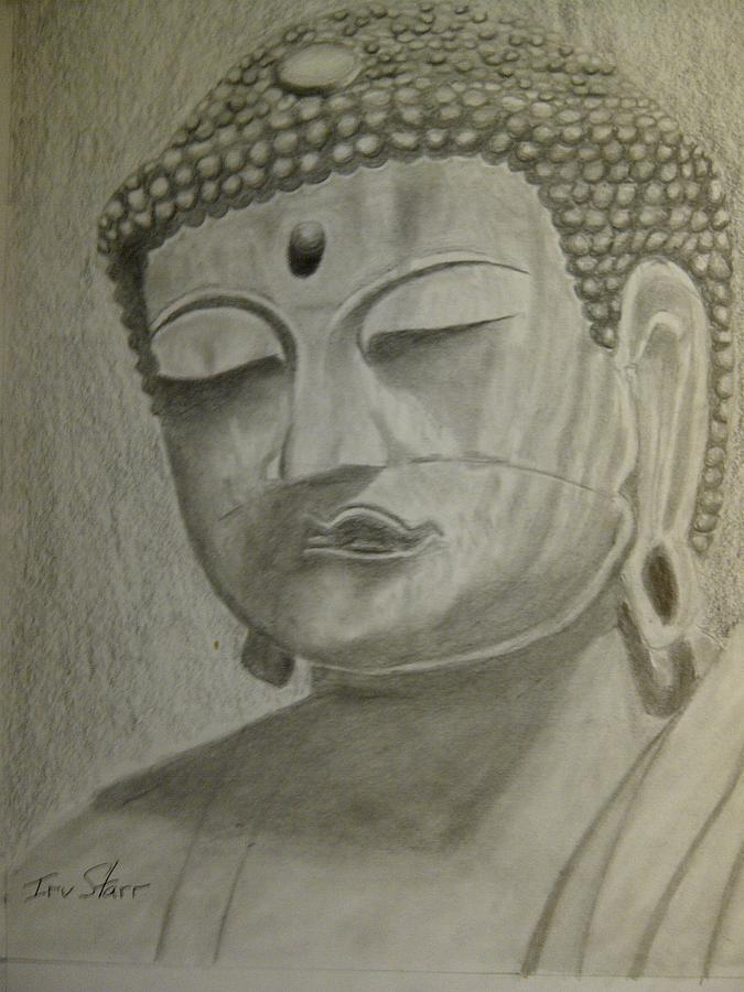 East Drawing - Buddha by Irving Starr