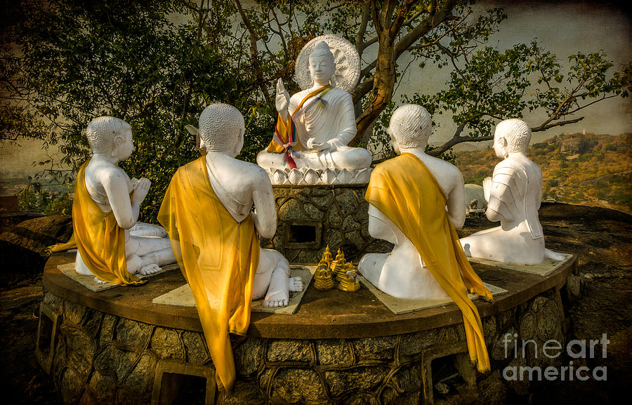 Hdr Photograph - Buddha Lessons by Adrian Evans