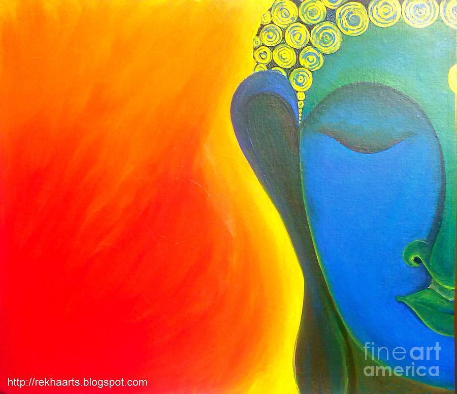 Buddha Painting Painting by Rekha Artz