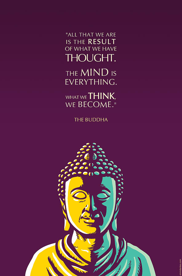 Buddha Quote The Mind Is Everything Digital Art By Elvin Dantes