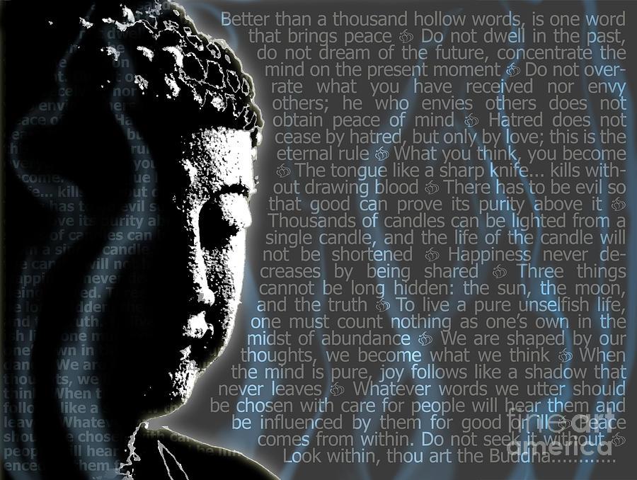 Buddha Digital Art - Buddha Quotes by Sassan Filsoof