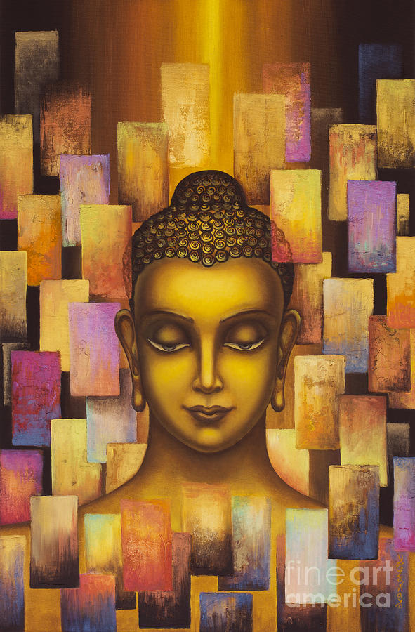Buddha Painting - Buddha. Rainbow Body by Yuliya Glavnaya